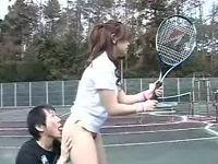 時間を止めてテニス部女子のムチムチの尻に強制浣腸して立ちバックを堪能する人