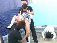 青姦学生カップルを襲撃して彼氏の前で彼女を犯しイカせまくる鬼畜男たち