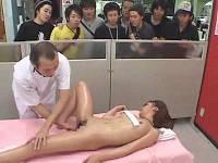 社内エステで男性社員の前で乳やアソコを揉みほぐされ喘ぐ美人秘書たち