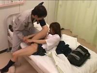 入院中の彼氏とイチャついていた可愛いJKを脅してカーテン越しに犯しまくる