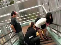 犬の散歩していたショートパンツ姿のお姉さんに発情して歩道橋でレ○プしまくる鬼畜集団
