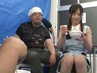 日雇い労働者の炊き出しに行ったムチムチ新人女優さんが騙されて服剥ぎ取られ順番に中出しされまくる