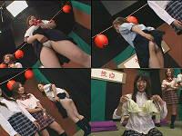 珍楽さん司会の性点でコマネチ・Tバック・はみ毛・パイモミをする女子校生たち