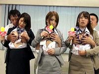 女子アナ志望の知的な女子大生がTV局のエロ入社試験で合格の為にセクハラに耐えハメられまくる