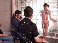 ドSな元カレに全身淫語の刺青を彫られたお姉さんが雄叫び上げアヘ顔でハメられまくる