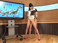 ニュース番組出演の女子アナ全員が下半身裸状態で常にチ○コハメられ喘ぎを我慢しまくる