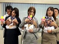 女子アナ志望の女子大生達がTV局入社試験で何をされてもカメラ目線を強要されてトロけながらハメられまくる