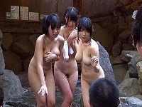 女湯におっさん集団に乗り込まれハメられ全裸で館内をウロウロさせられピンクコンパニオンに間違われ強制全裸人間猿回しさせられる巨乳素人娘6名