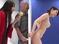 歳の差60歳以上、おじいちゃんがボードから出た女体の乳やマ○コを舐めてチ○コ挿れて孫娘の身体を当てるゲームがいやらしい
