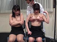 業務中にいきなり女子社員たち21人の乳もみ感度調査、大きさ・柔らかさ・感度のチェック!恥ずかしすぎるおっぱい触診に顔がトロけマ○コ濡らす