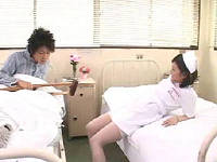 性欲溜まった患者が憧れのナースをトリモチで動けない様にしてハメまくる