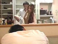 家で上司を接待していたら夫が寝てしまい断ることが出来ずハメられまくり腰を振りだす若妻