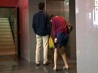 痴漢男に貞操帯付けられた美人若妻が夫と買い物中に感じてしまい失禁したので部屋に連れ込みハメまくる