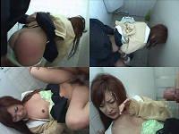 トイレに潜んでいた男に犯される女子校生