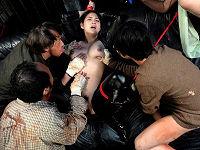 元ヤンの巨乳女捜査官が罠にはまり、ひ弱な男集団に捕らわれて犯されて中出しされまくる