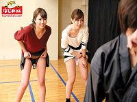 素人お嬢さん2人組が壁から飛び出すチ○コをセン回こすって10マン円、ボーナスでチ○コハメられまくるエロゲーム