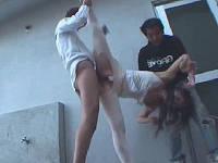 新体操部の学生さんを路地に連れ込み強制セックスする