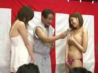 旅館に来ていた巨乳お姉さんを野球拳の罰ゲームで公開羞恥セックス