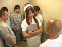 すけべ患者だらけのエレベータで犯されまくるむっちりナース